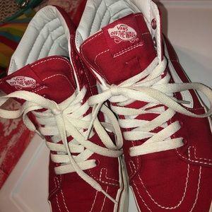 Red high top Vans